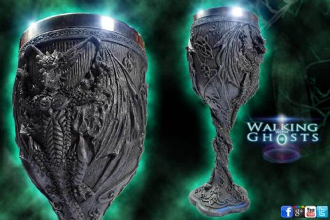 Gothic Dragon Altar Chalice Wine Goblet Celtic Pagan Fantasy Prop Goth UK